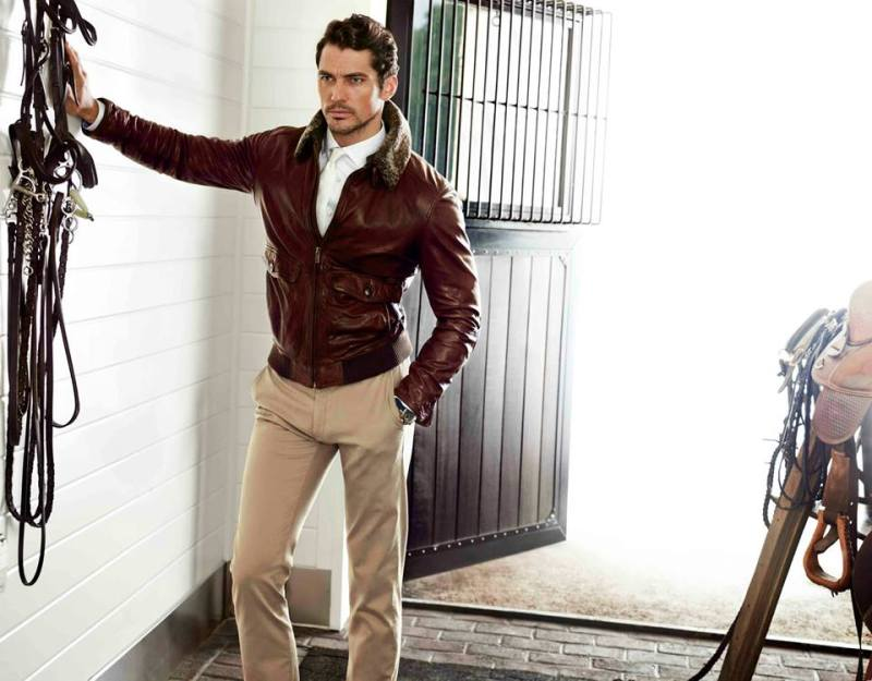 David Gandy and Carolyn Murphy for Massimo Dutti, fall 2013
