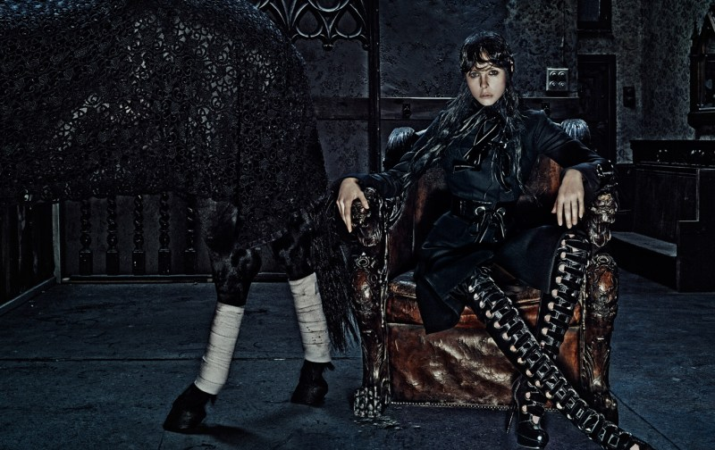 www.pegasebuzz.com | Edie Campbell by Steven Klein for Alexander Mc Queen AW 2014