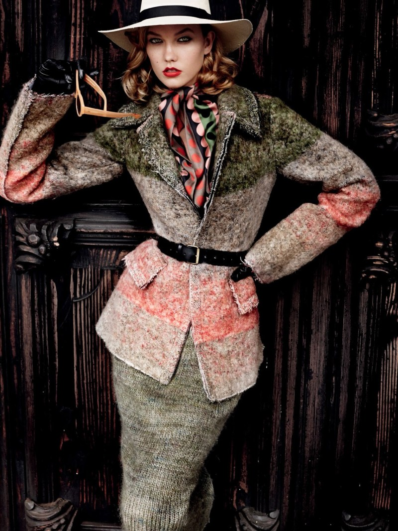 www.pegasebuzz.com | Karlie Kloss by Mario Testino for Vogue US, september 2014