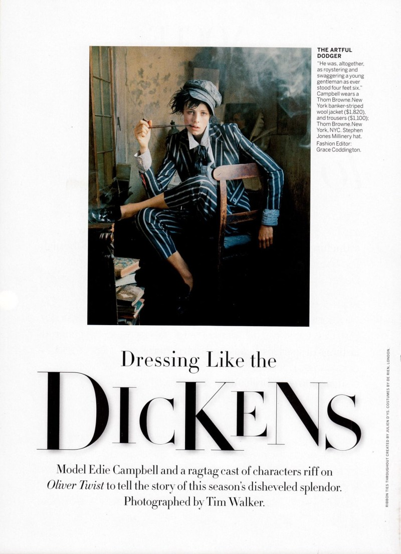 www.pegasebuzz.com | Edie Campbell by Tim Walker for Vogue US, december 2013