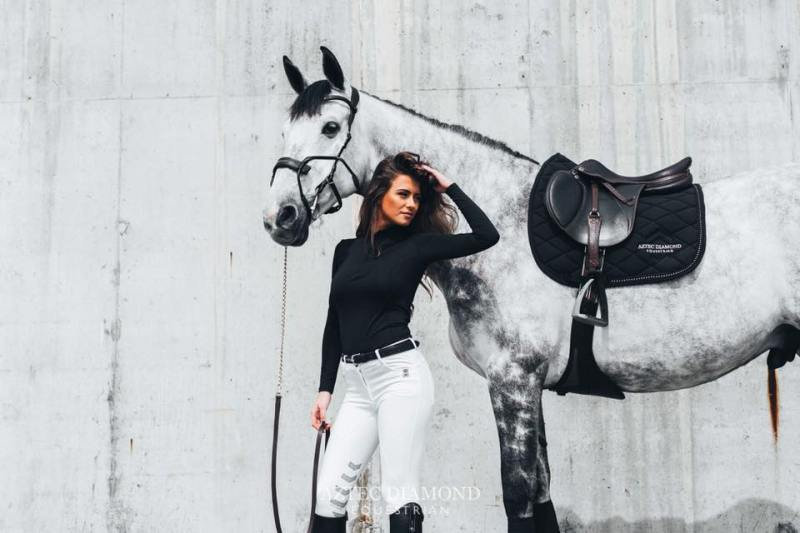 Equestrian Fashion Aztec Diamond Stone Amelie Breeches