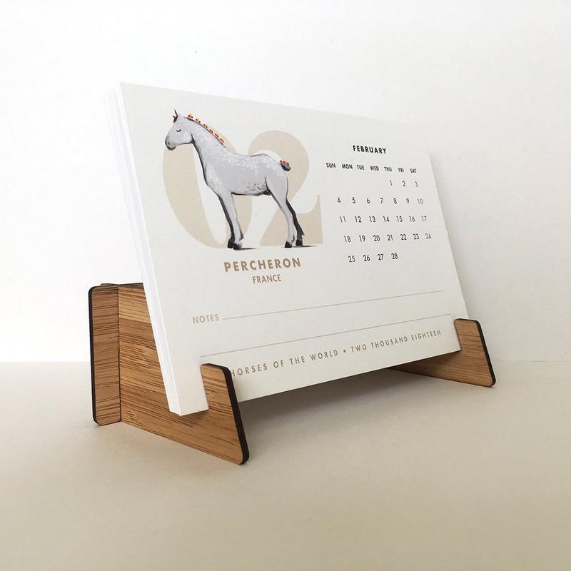 www.pegasebuzz.com | Equestrian lifestyle : PaperPony - horses of the world desk calendar.