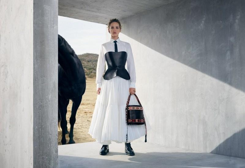 www.pegasebuzz.com | Jennifer Lawrence by Viviane Sassen for Dior Cruise, 2019.