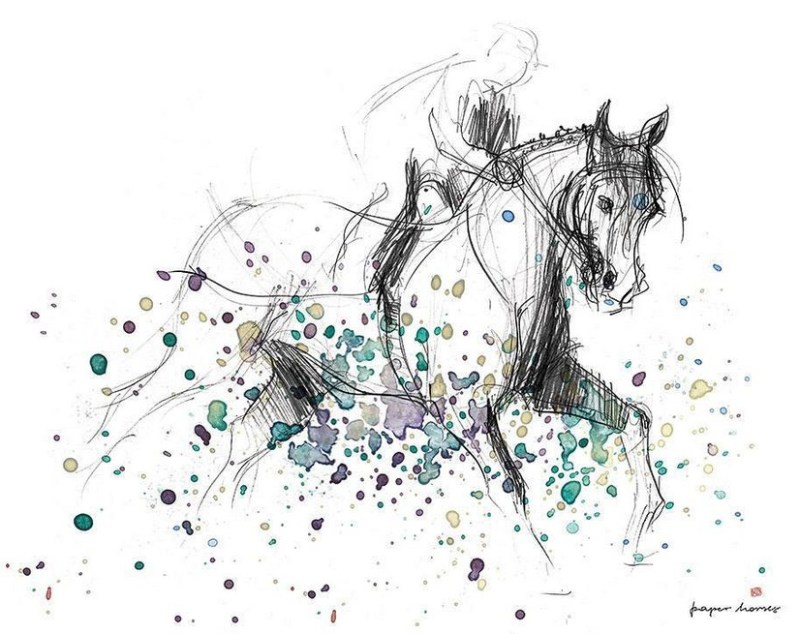 www.pegasebuzz.com | Horse illustration : Paper Horses by Kasia Dippel.