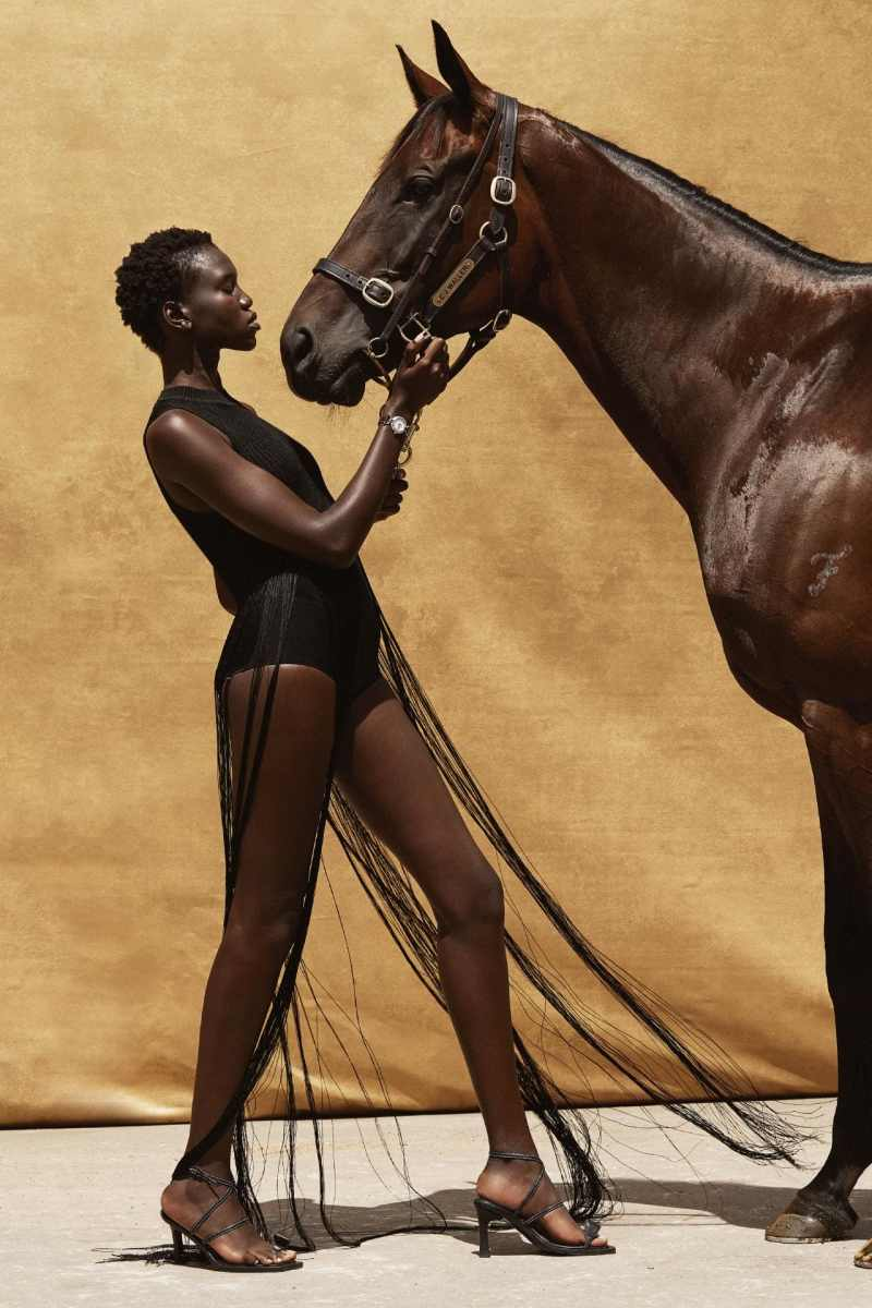 www.pegasebuzz.com | Nya Leth and race horse Winx by Justin Ridler for Vogue Australia, april 2019.