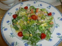 Chopped salad, Muir's Tea Room, Sebastopol, California