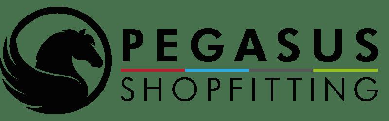 Black pegasus logo