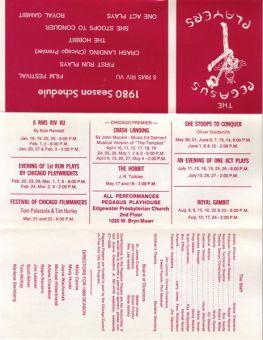 Pegasus 1980 Season Card