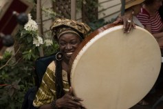 Zahra Baker plays frame drum