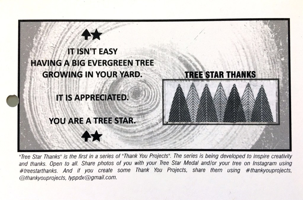 Tree Star Thanks