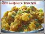 spiced cauliflower potato gobi