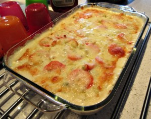 Creamy Cheesy Layered Potato Bake
