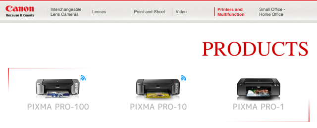 Canon Pixma Pro Printers