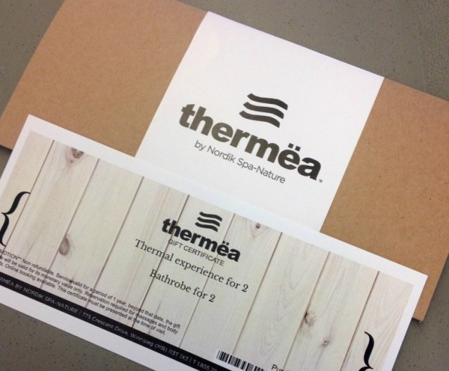 Thermea Winnipeg Gift Certificate