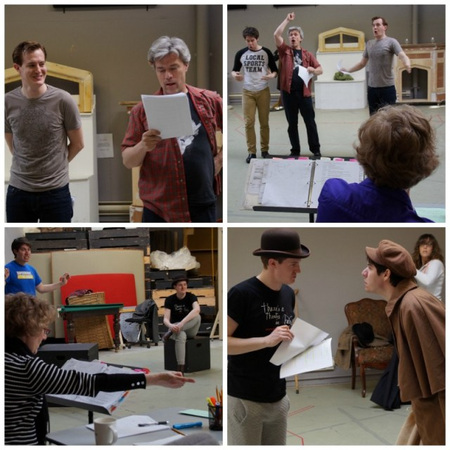 Hound of the Baskervilles Rehearsal Collage