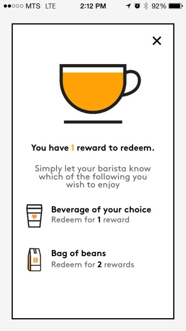 SecondCup Rewards App 3
