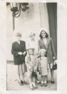 My grandma is in the center with my mom on the right and her two younger sisters in front (not sure of other person)