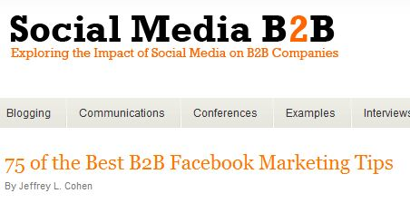 Facebook pages for B2B marketing