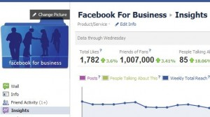 Facebook Insights for a Facebook business page