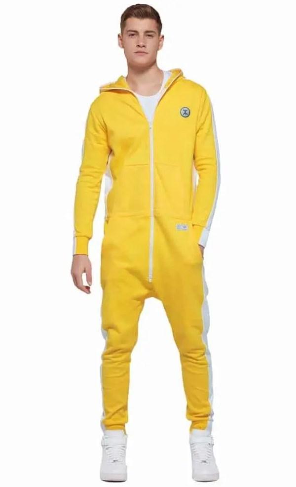 OnePiece Racer Onesie Jumpsuit Yellow Gelb