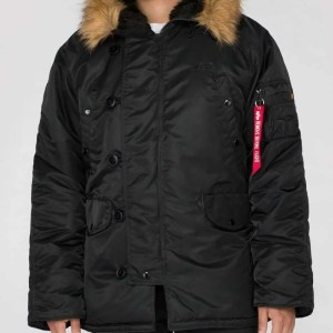 ALPHA N3B BLACK (Winterjacke)