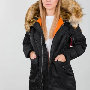 ALPHA N3B VF 59 WMN BLACK (Winterjacke Women)