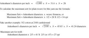 Ashenhurst calculation for sett