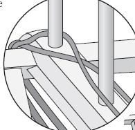 Horizontal Warping Reel Pegs, Detail
