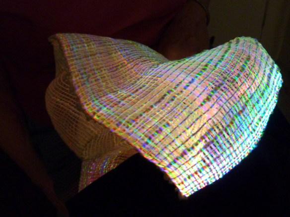 Weaving with LED Fiber Optics