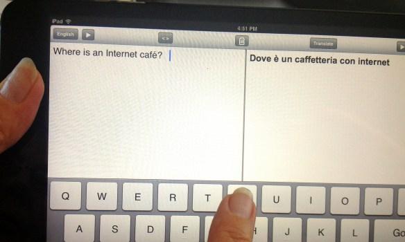 iPad Translation App