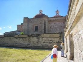 6.2grass courtyard, walls and church walls
