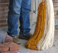 7.14 yellow and white yarns to go into red dye