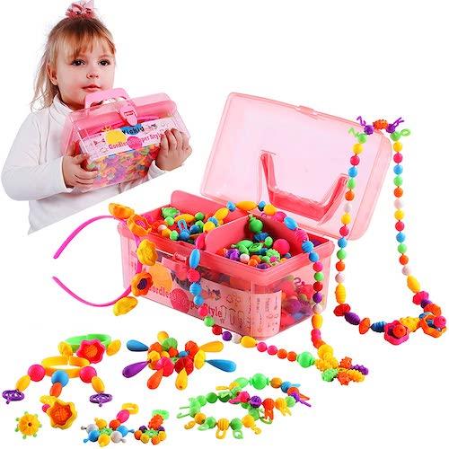 set de abalorios, juguetes de 3 años