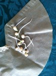 pea seeds germinaed in paper coffee filter