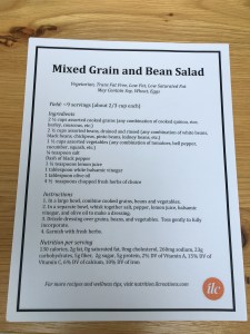 mixed grain bean salad recipe