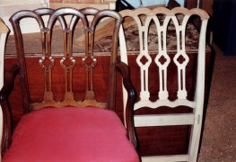 Comparison of elbow and side chair backs.