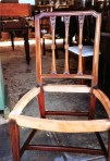 One of the completed chair frames.