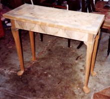 The tea table in-the-white and ready for finishing.