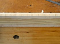 The glue-up for the lower section of the composite surbase moulding.