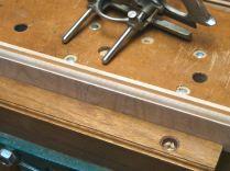 Lower door moulding and panel groove.