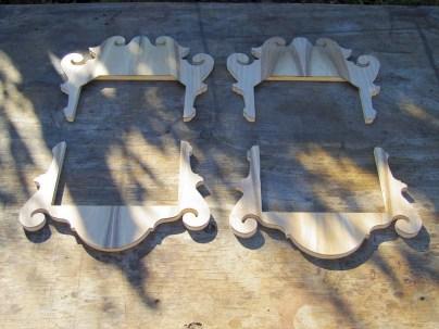 The frets awaiting their frames.