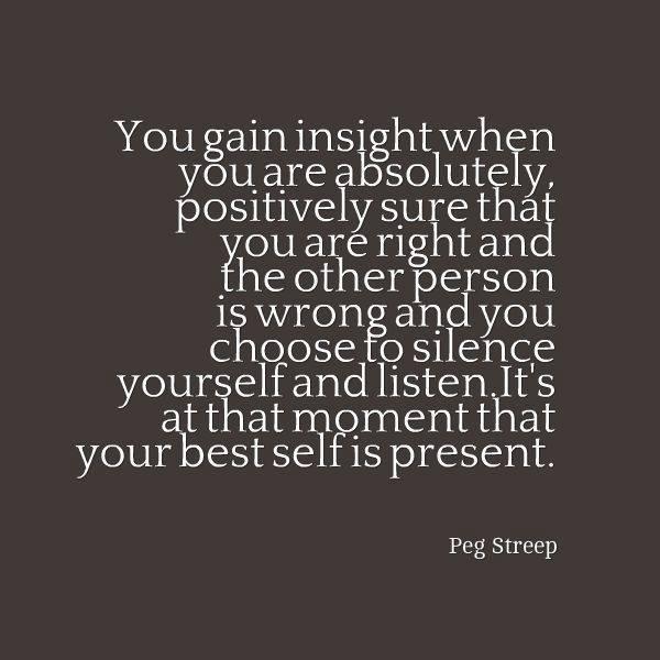 Gaining insight