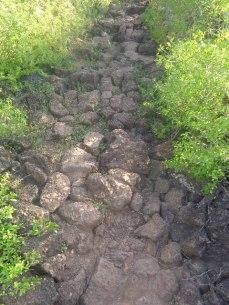 Seguindo para Las Grietas pelo caminho das pedras...