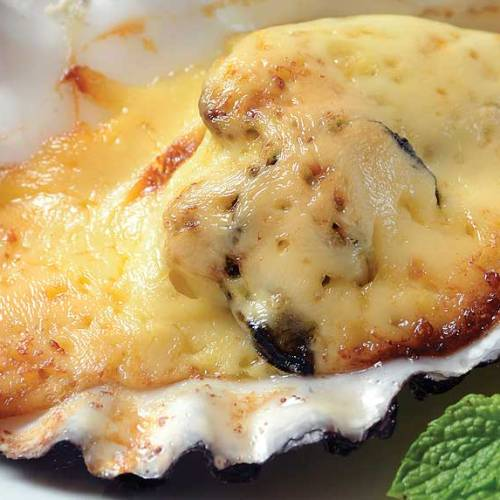 Baked Oysters by Chef/owner Don Hoang, Meiji Sushi