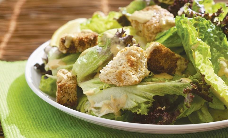 Vegan Caesar Salad by Collective member Esan Azore, Mondragon Bookstore & Coffeehouse