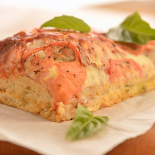 Margherita Pizza Focaccia by Bakery Chef Roland Gregoire of Stella's Café and Bakery