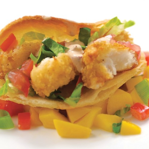 Panko-Crusted Tilapia Tacos by Chef David Hyde of Cafe Carlo
