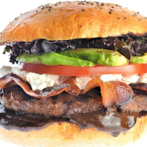 Black Garlic Burger by Collective member Östen Rice of Unburger