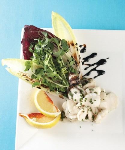 Pickerel Ceviche Salad by Executive Chef Jason Gower of Delta Winnipeg's Blaze Bistro