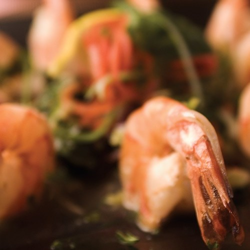 Lemon Garlic Prawns by Head Chef Geoff Stevens of Bonfire Bistro
